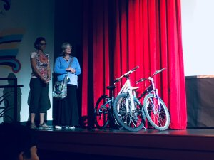 Way of Compassion Bike Project Bikes on Stage