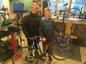 Father and Son Carbondale Community Bike Project