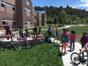 Bike Project Visits Carbondale Elementary School, Photo by Aaron Taylor
