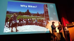 Community Bike Project on Stage